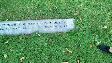 Photo: Detty - the first soldier interred (Ohio)