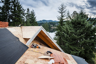 Photo: Valley sheathed.  Bottom piece left off for the roofer.