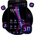 3d tidy business purple black shiny theme icon