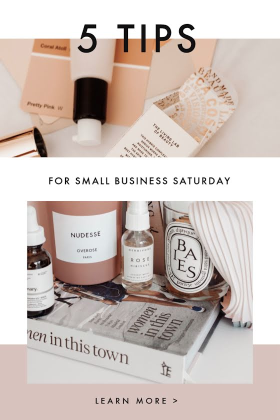 Small Business Saturday Tips - Pinterest Pin Template