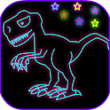 Neon Glow Paint And Draw: Kids icon