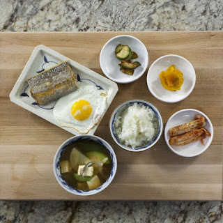 Traditional Korean Breakfast.