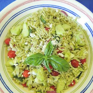 Italian Basil Orzo Salad