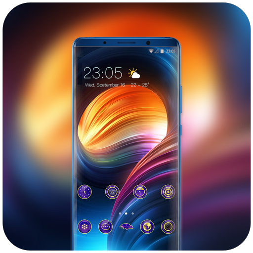 Theme for Mi8 youth psychedelic smooth wallpaper icon