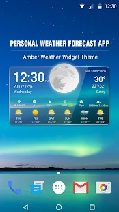Transparent Weather & Clock App 2018