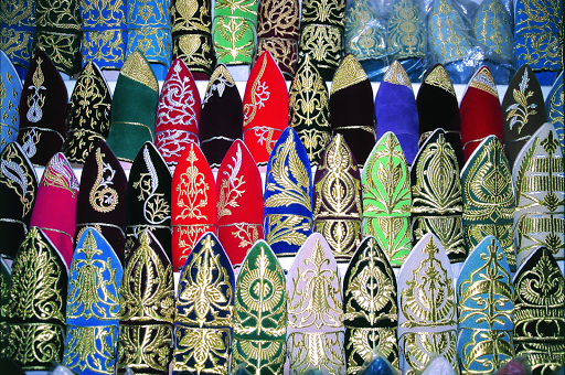 Brightly colored gifts for sale in Morocco's markets