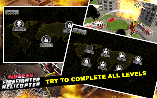 Code Triche Modern Firefighter Helicopter APK MOD screenshots 4