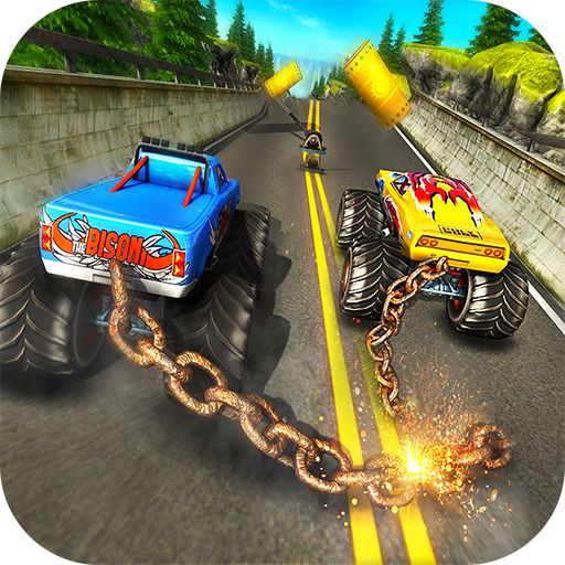 Chained Monster Truck Rivals: Ramp Racing Stunts