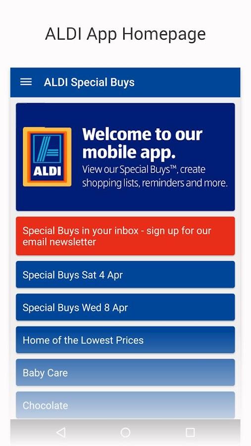 ALDI Australia - screenshot