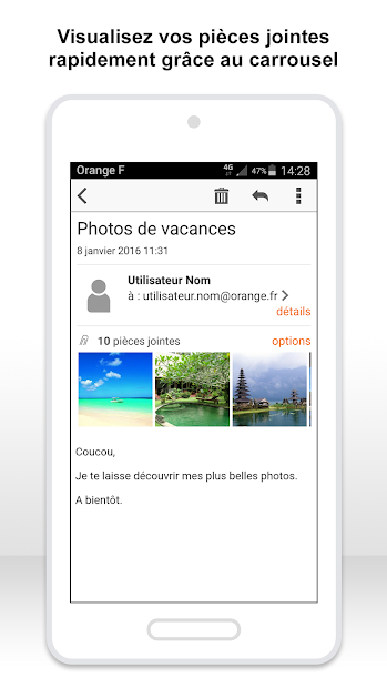 Mail Orange, 1er mail français Android App Screenshot