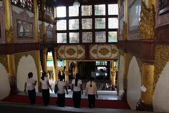 Photo: Year 2 Day 54 -  Walking Down the Main Staircase in the Shwedagon Paya in Yangon