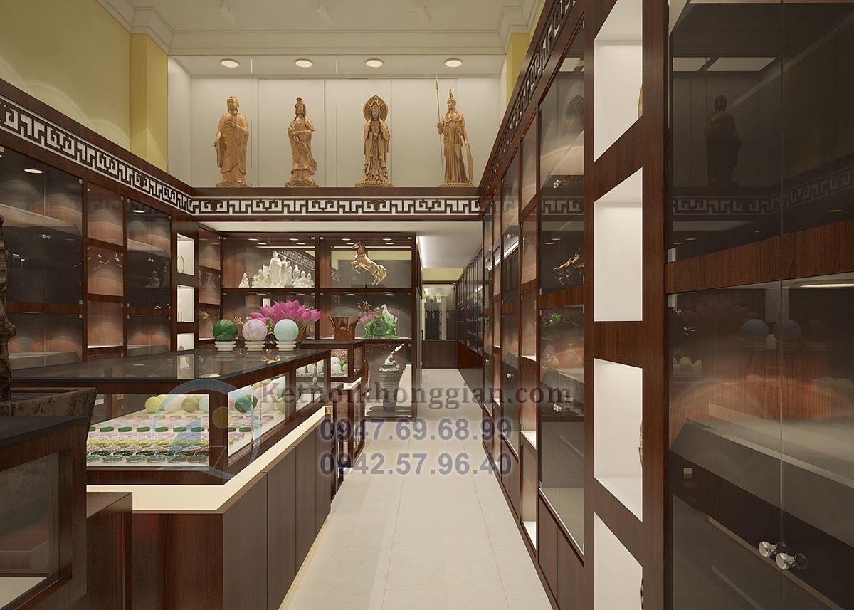 thiết kế cửa hàng vật phẩm phong thủy hài hòa tinh tế