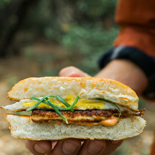 Grilled Halloumi Breakfast Sandwich.