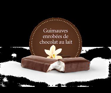 Chocolat Demie-guimauve enrobée de chocolat au lait  Boîtes présentoirs