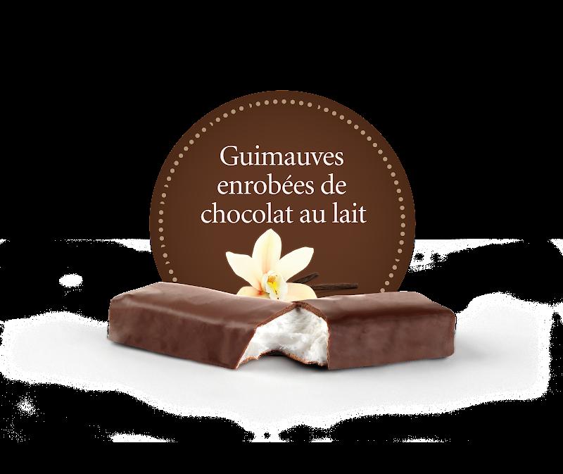 Chocolat Demie-guimauve enrobée de chocolat au lait