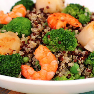 Shrimp and Scallop Quinoa Salad