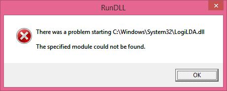 LogiLDA.dll RunDLL Error
