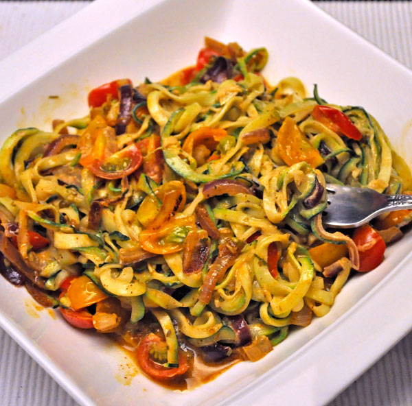 Zucchini Noodles with Cherry Tomatoes Recipe