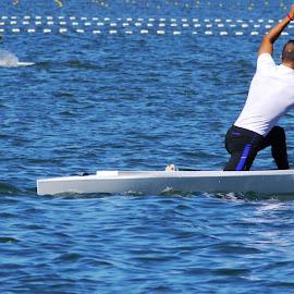 Canoeing - VII by Joatan Berbel - Sports & Fitness Watersports ( watersports, movement, sports, canoe, colorfull )
