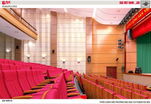 Chọn kiểu ghế phù hợp không gian hội trường