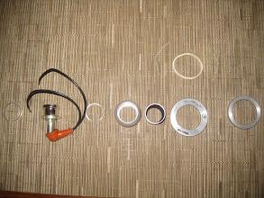 Photo: WEMAC eyeball map lights disassembled for black anodizing.