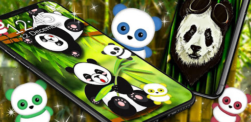 Cute Panda Live Wallpaper Kawaii Bear Theme Aplikasi Di