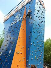 Photo: Bouldering na lezecké věži v Ostravě-Vítkovicích (edukační dny, úterý 27. květen 2014).