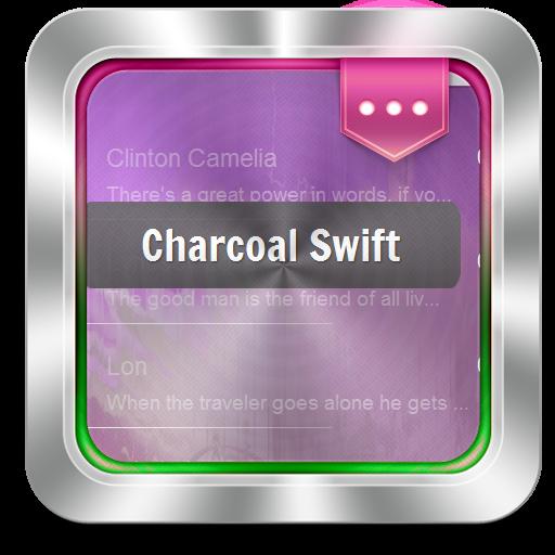 个人化のチャコールスウィフト GO SMS LOGO-記事Game