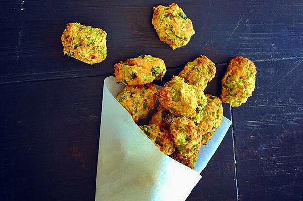 Cheesy Sweet Potato Broccoli Tots Recipe | Yummly