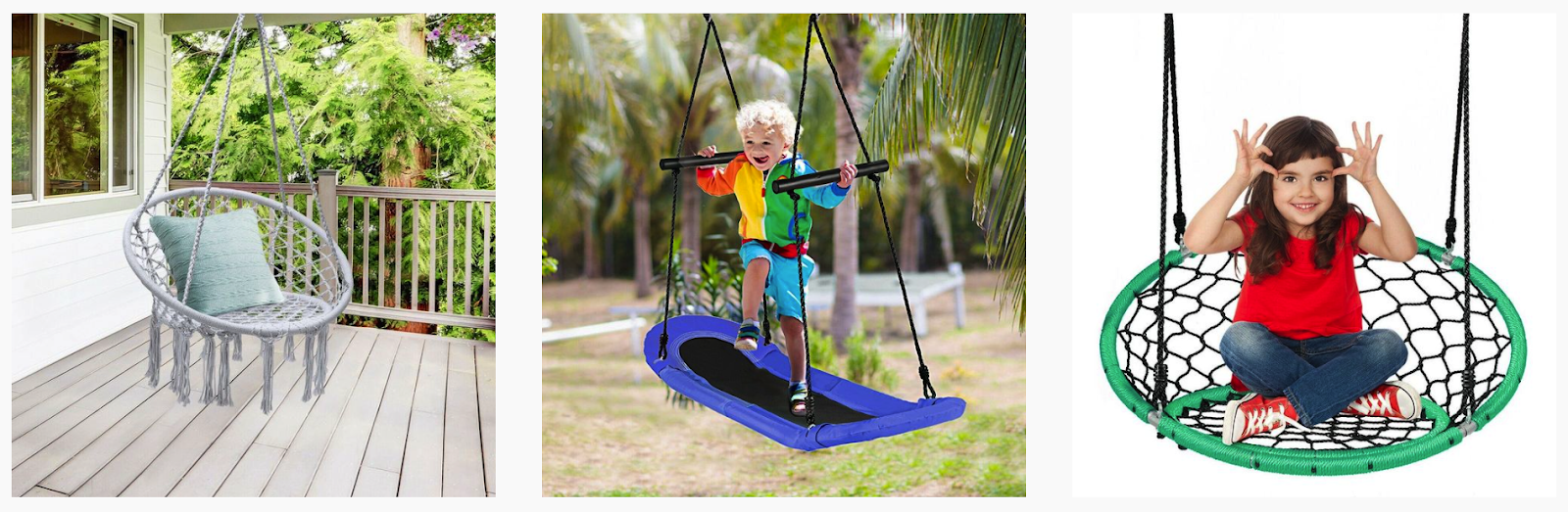 Play Smart USA | Kids playing on outdoor hanging swings
