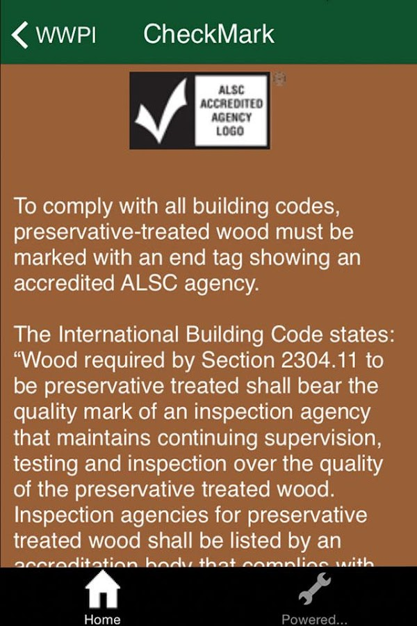 Treated Wood Guide- screenshot