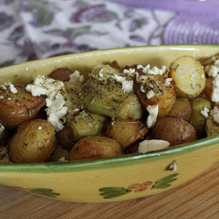 Roasted Potatoes with Artichokes & Feta.