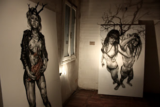 """Photo: exhibition """"HUMAN BEING: The Places of Presence"""" featuring my Damaged People installations alongside works by sculptor Alessandro Dimauro and painter Matteo Boato in Venice, Italy [07-16th october 2011]"""