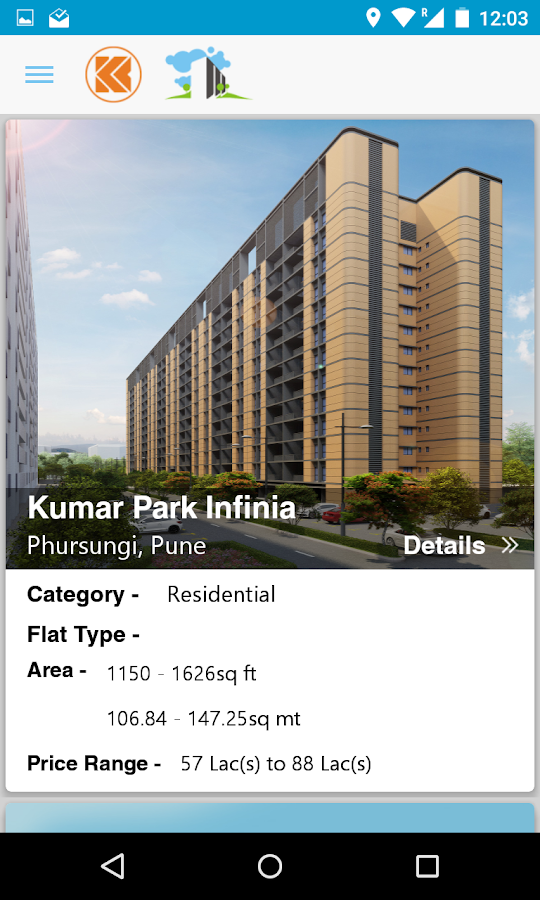 Kumar Properties- screenshot