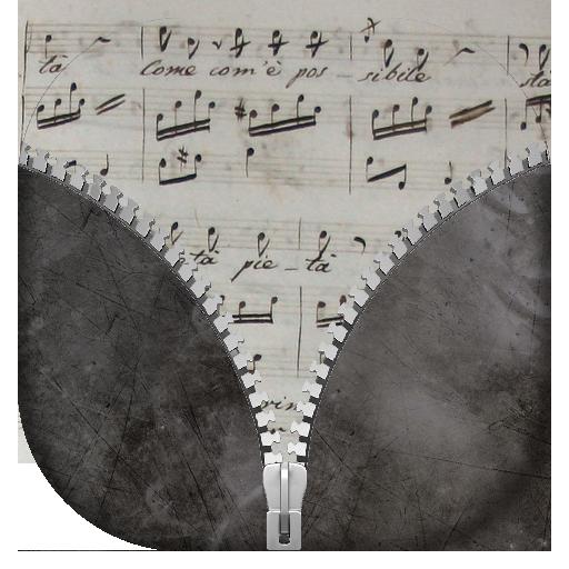 个人化ののミュージック ジッパー画面ロック LOGO-記事Game