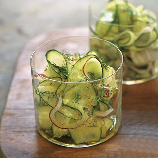 Cucumber, Red Onion and Dill Shaved Salad.