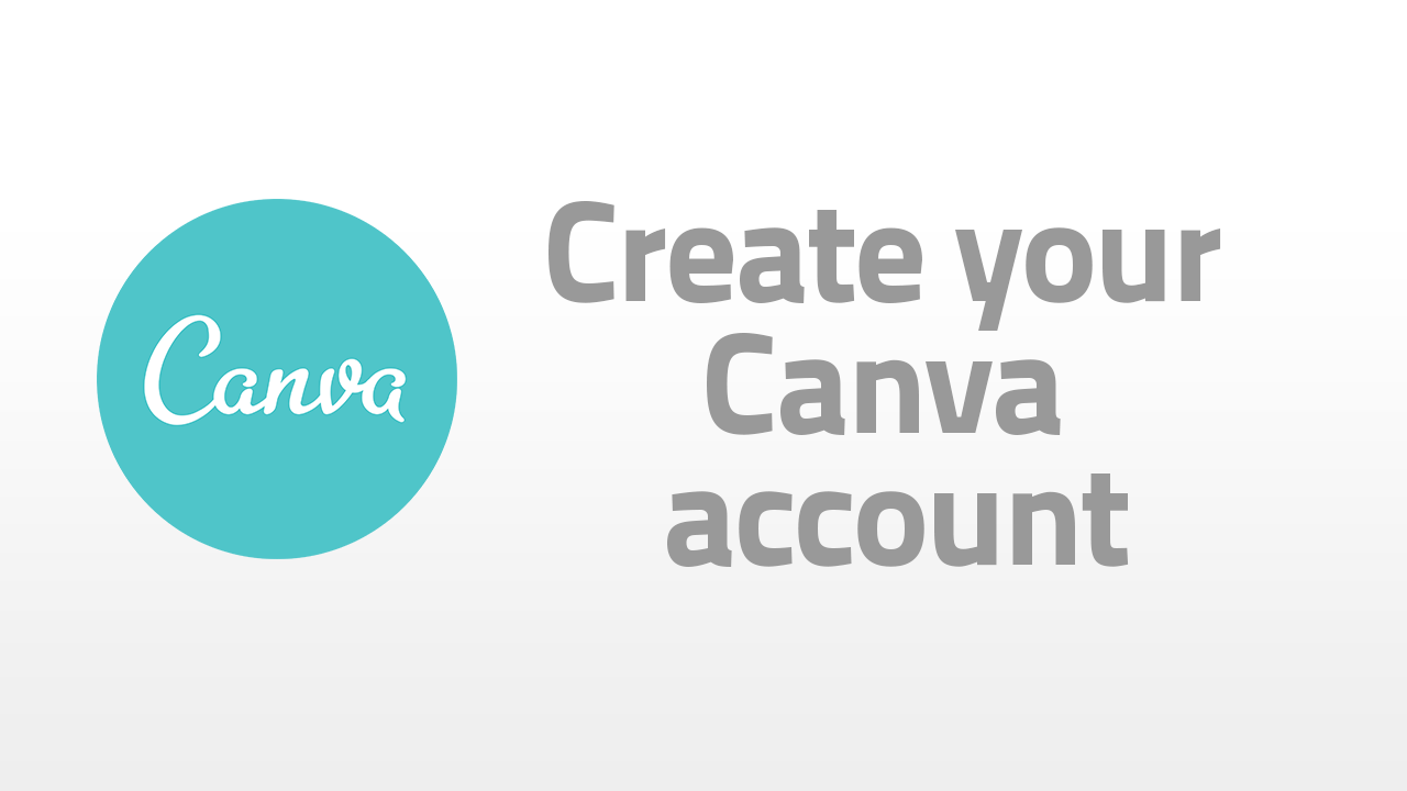 create your canva account