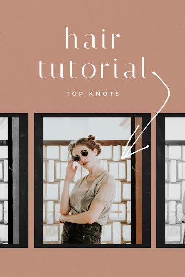 Hair Tutorial - Pinterest Pin template