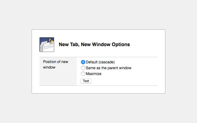 New Tab, New Window