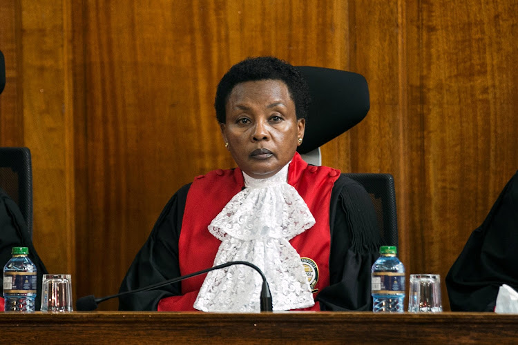 Kenya's deputy chief justice Philomena Mwilu presided during a ruling laying out the reasons for annulling the presidential election results in the Supreme Court in Nairobi in September 2017.