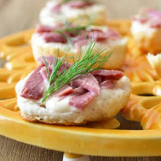 Corned Beef Appetizer Canapes.
