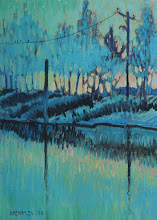 Photo: Delta Series, Turquoise, pastel by Nancy Roberts, copyright 2014. Private collection.