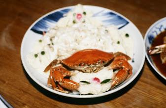 Photo: 10961 上海/大廈宴席/料理/芙蓉青蚧/ワタリガニの肉と卵白の炒めもの