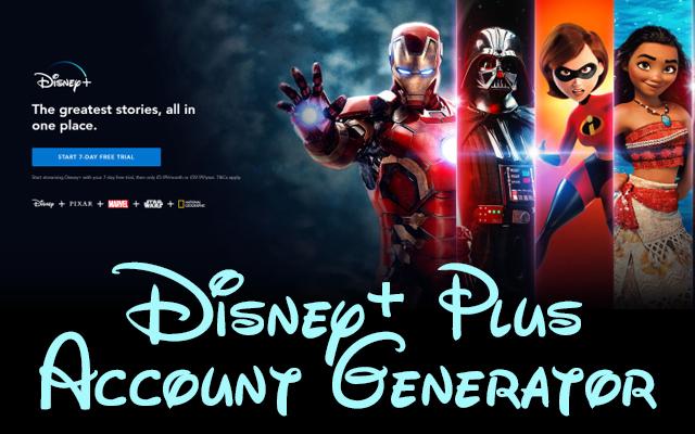 Disney+ Plus Account Generator