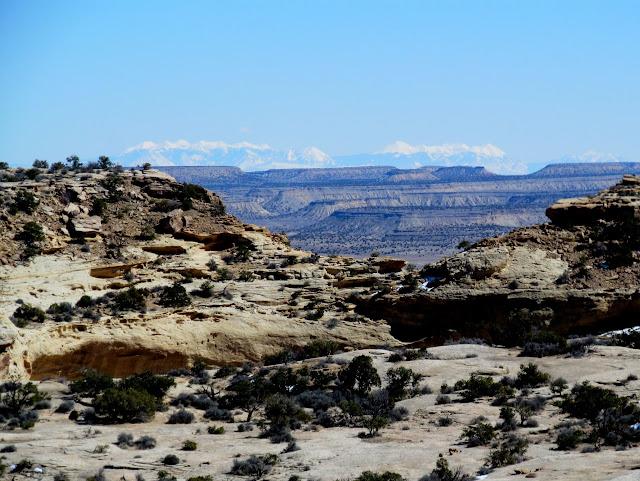 La Sal Mountains 90 miles away
