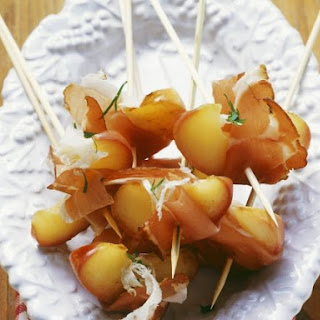 Pancetta and Apple Canapes.
