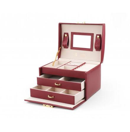 Röd Smyckeslåda/Juvelbox