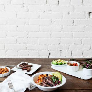 Charred Sweet Potato and Steak Taco Bowl