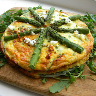 Feta and Asparagus Crustless Quiche