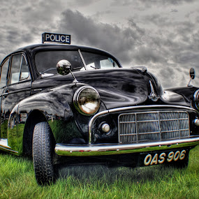 by Jade Newman - Transportation Automobiles ( car, morris minor, police, hdr, vintage, classic )